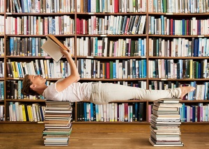 Reading while doing Pilates