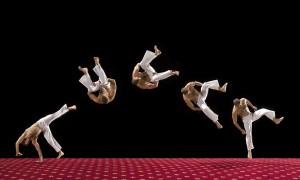acrobatic tumbling routine