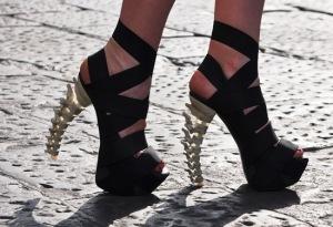 Dsquared stilettos with spine heel