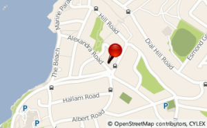 Map showing the location of The Wellbeing Studio