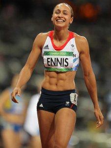 Jess Ennis six-pack
