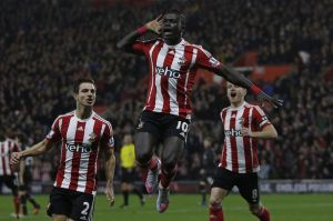 Southampton footballers celebrating