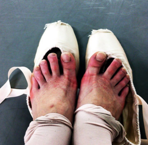 ballet dancer's feet