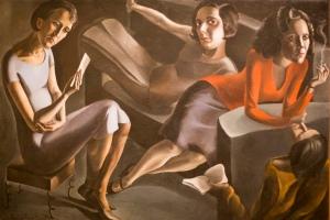 The Gathering, 1929 by Catalan artist Àngeles Santos Torroella