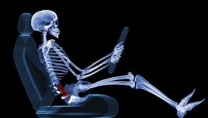 Skeleton driving - shape of the spine