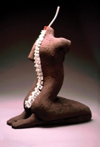 Spine sculpture by Rebekah May-personal-velvet