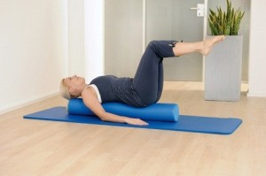 Pilates on a foam roller