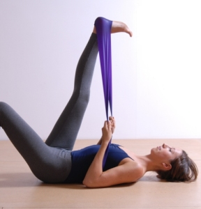 Pilates using a band