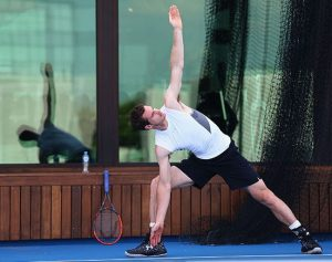 Andy Murray Training Session