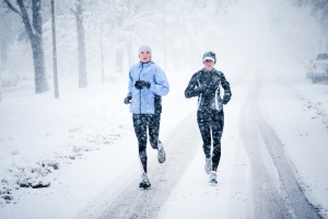 Winter training - women runners